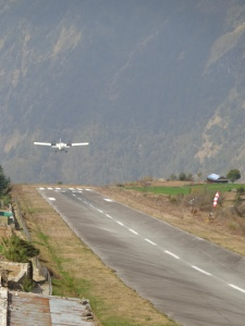 Take off from Lukla after dropping us off
