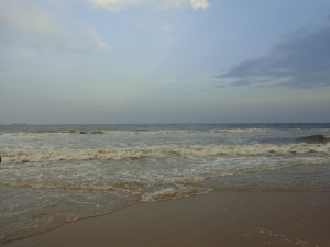 Marina Beach, Chennai.  Nearing sunset