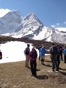 At Ama Dablam Base Camp.  Still smiling!