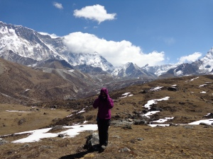 Super windy!  At Ama Dablam Base Camp