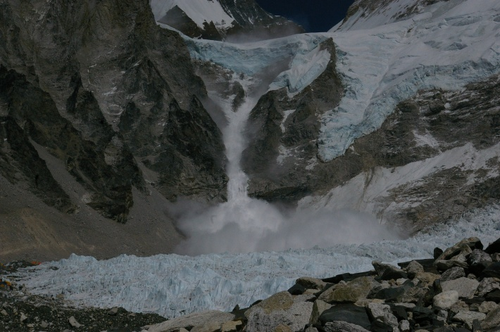 Avalanche at Base Camp