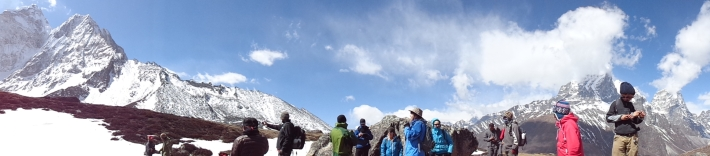 The group at Ama Dablam Base Camp